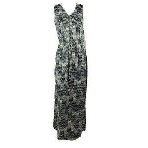 GNW Black White Sleeveless Maxi Dress Size M